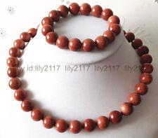 Natural 10mm Galaxy Staras Gold Sand Sun Sitara necklace Bracelet set