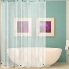 NEW SOLID WATER REPELLANT BATHROOM SHOWER CURTAIN PEVA LINER CLEAR w/HOOK Brand
