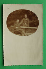 K.u.K. Foto AK Soldaten Offizier Orden 1-jähr Freiwilliger 1917 Uniform 1.WK WWI