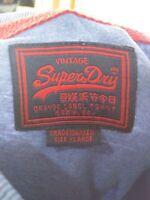 MENS SUPERDRY BLUE MARL SHORT SLEEVED CASUAL CREW NECK T SHIRT TOP UK XL XLARGE