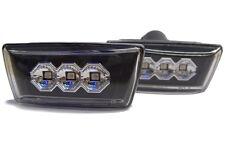 Vauxhall Corsa D 06 + Ahumado Indicadores LED Negro Repetidores Laterales Opel detector
