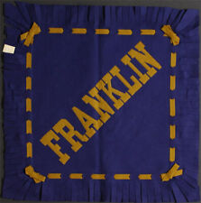 Franklin College **RARE** 1930's Felt Pillow Cover vtg pennant Indiana Grizzlies