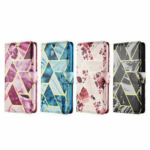 Case for iPhone 12 Pro Max 11 7 8 XR XS X Leather Flip Wallet Marble Phone Cover