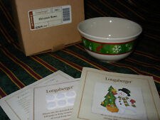 Longaberger Pottery Holiday Bowl w/snowflakes (3 available)