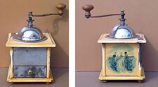 Ancien moulin à café vintage PEUGEOT ? décor moulin HOLLANDE DELFT ? manuel