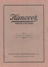 Hanover Water Systems Vintage Catalog Deep & Shallow Well Pumps & Accessories