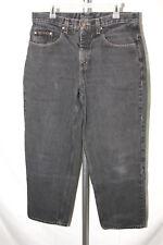 Anchor Blue Mens Size 34x32 (34x31) Black Baggy Skater 90's Denim Pants Jeans