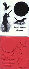 unmounted rubber stamps Hunting Shadow set  collection   5 images