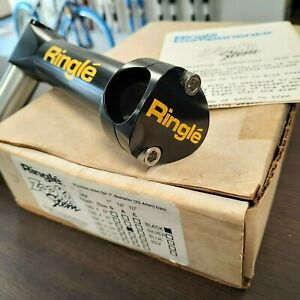 "NOS / NIB Ringlé ZOOKA Quill Stem 1 1/8"" 150mm 0 deg. - Black - VINTAGE RINGLE"