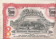 Potash Syndicate of Germany, 1929, LB 100 SINKING Fund ORO Loan