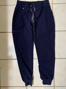 Figs Womens Zamora 2.0 Technical Collection Navy Jogger Scrub Pant Size Small