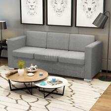 Modern 3-Seater Sofa Lounge Couch Living Room Furniture Fabric Light Grey V2I9