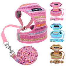 Cozy Cotton Knitwear Dog Harness Vest & Leash Small Dog Chihuahua Pug Clothes
