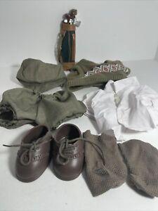 "12"" Teddy Bear Doll New Clothes Lot Sam Golfer Outfit Golf Bag Tender Heart"