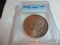 1885-O MORGAN SILVER DOLLAR  toned ICG MS66+ VALUED AT $860.00!