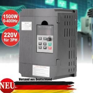 220V Frequenzumrichter Einphasig VFD Drehzahlregler AC Motorantrieb 1.5KW