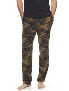 Croft & Barrow Men's XXL Long Extra Soft Fleece Pajama Lounge Pants Camo Pockets