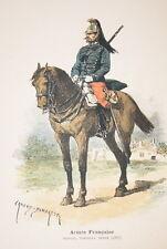 ARMEE FRANCAISE-DRAGON NOUVELLE TENUE 1887 DUMARESQ GRAVURE COULEURS 1890-R912