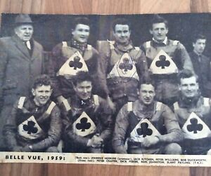 BELLE VUE SPEEDWAY PICTURE INCLUDING AUTOS OF CRAVEN, JOHNSTON AND WILLIAMS