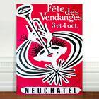 "Stunning Vintage Music Poster Art CANVAS PRINT 36x24"" Neuchatel Trumpet"