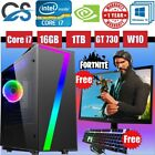 Cit Seven Gaming Computer Pc Bundle Quad Core I7 16gb 1tb Gt730 19'' Tft Led