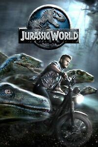 Jurassic World Movie POSTER WALL ART - CHOOSE SIZE - FRAMED OPTION a