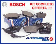 KIT 8 PASTIGLIE FRENO BOSCH VW GOLF 6 VI 1.6 1600 BIFUEL ANTERIORE + POSTERIORE