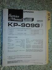 Pioneer kp-909g service manual original repair book stereo car radio tape deck