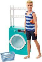 Barbie Mobilier poupée Ken avec lave-linge et sèche-linge à tambour jouet FYK52