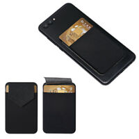 Leather Phone Card Holder Adhesive Sticker Wallet Case Cell phone Pocket