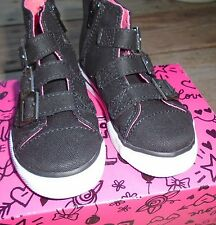 NEW Little Girls 11 Total Girl Hi Top Zip Up Buckles Studded Stars Tennis Shoes