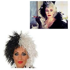 Cruella De Ville Wig 101 Dalmations Halloween Fancy Dress Dalamtian Lady