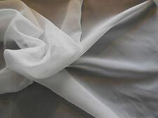 weiß Premium Chiffon Stoff Polyester Bekleidung DIY 150cm wide.sold von Pro