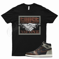 Black TRUST V2 T Shirt for Jordan 1 Patina Light Army Sail Fresh Mint Bronze