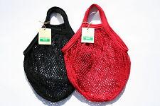 2 x stringa / Net shopping bag made from riciclato cotone grezzo, MANICI CORTI