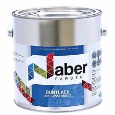 (11,20 €/L)2,5L Buntlack auf Wasserbasis-3in1- RAL 9005 TIEFSCHWARZ Seidenglanz