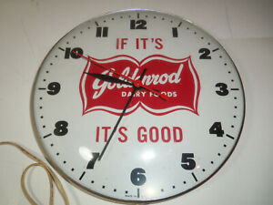 BEAUTIFUL Vintage Electric Advertising Clock GOLDENROD DAIRY FOODS Works # 429
