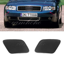 Pair For Audi A4 B6 Quattro 2002-2005 Bumper Headlight Washer Cap Unpaint Cover