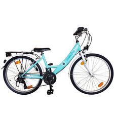 """26 Zoll Cityfahrrad Fahrrad 26"""" 18 Gang SHIMANO STVZO Damenfahrrad Mint-Weiss"""