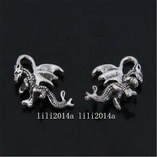 15pc Retro Tibetan Silver dragon Charms Beads Pendant Jewellery Findings PL922