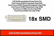 1x TOP 18 SMD LED MODUL Kofferraumbeleuchtung Ford Focus III 3 MK3 Rot (7105)