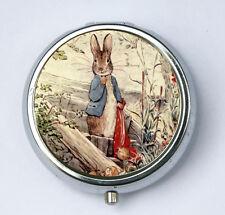 Benjamin Bunny pillbox PILL case box holder victorian fairy tale rabbit DIY