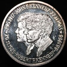 More details for u.s.a. john f. kennedy & robert f. kennedy medal   silver   medals   km coins