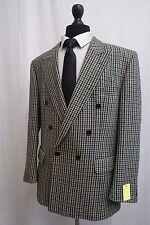 Men's Bonacelli Check Double Breasted Tweed Jacket Blazer 44R SS8418