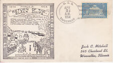 NAVAL MILITARY SHIP EVENT COVER - 1954 USS TIMMERMAN R. MILLING CACHET RET BLACK
