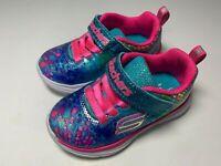 Toddler Girls' Skechers Wavy Lites Sneakers Size 6 Multi-Color Gently Worn