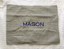 New! Pottery Barn boys Kids Quilted Pillow Sham monogram MASON gray