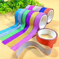 10× Craft Glitter Washi Tape Book Decor DIY Adhesive Paper Scrapbook Sticker 4M