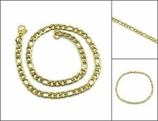 """Chain Anklet Bracelet Ankle 9"""" 78-10 Women's Fashion Jewelry Gold Color Figaro"""