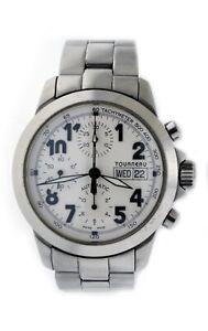 Tourneau Sportgraph Valjoux 7750 40mm Steel Day Date Chronograph Automatic Watch